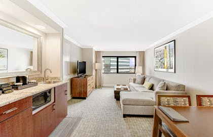 Living Area | 2 Room Suite - 2 Double Beds - 1 Bedroom | Embassy Suites by Hilton Anaheim - Orange