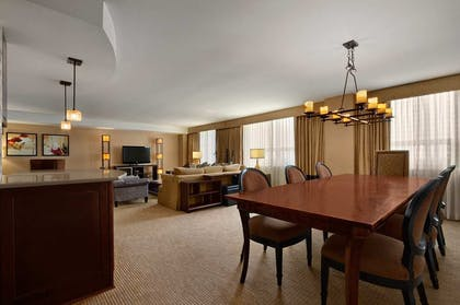 Presidential Suite Living Room | 2 Bedroom Suite - 1 King - 2 Queens - Sofabed | Embassy Suites by Hilton Baltimore Inner Harbor