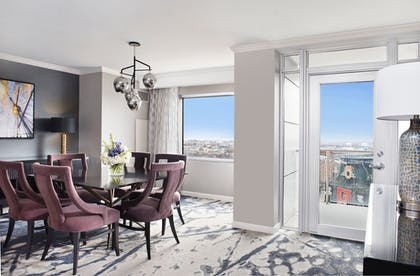 Suite Dining Area | 1 Bedroom Balcony Suite With Homeplate View | Hilton Baltimore