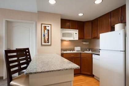 Suite Kitchen   1 King 1 Bedroom Suite Panoramic View   Homewood Suites by Hilton Baltimore