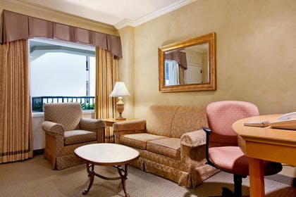 Separated Living Room | 1 King 1 Bedroom Suite | Hilton Boca Raton Suites
