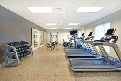 Cardio and Free Weights in Fitness Center | Embassy Suites by Hilton Charleston
