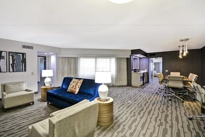 Living Area | 2 Bedroom/2 Bath President Suite - 2 King Beds | Embassy Suites by Hilton Charlotte