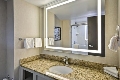 Bathroom | 2 Room Conference Suite - 1 King Bed | Embassy Suites by Hilton Charlotte