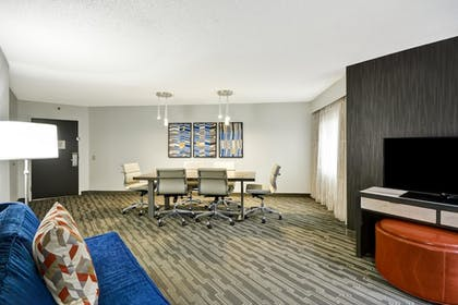 Conference Area | 2 Room Conference Suite - 1 King Bed | Embassy Suites by Hilton Charlotte