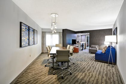 Living Area | 2 Room Conference Suite - 1 King Bed | Embassy Suites by Hilton Charlotte