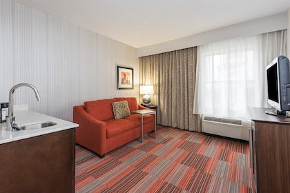 Living Room | 1 King Bed Mini Suite with Whirlpool | Hampton Inn Charlotte-Uptown