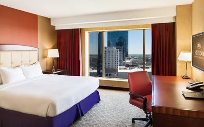 Junior Suite | 1 King Bed Junior Suite + 2 Double Beds Deluxe Room | Hilton Charlotte Center City