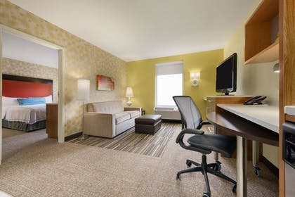 Living Area | 1 King Bed Studio Suite | Home2 Suites by Hilton Charlotte I-77 South, NC