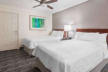 Beds | 2 Double Beds Studio | Homewood Suites by Hilton Charlotte-North/Univ Research Park