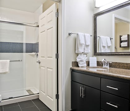 One Bedroom Suite Bathroom | 1 Bedroom Suite 1 King Bed Nonsmoking | Staybridge Suites Charlotte Ballantyne
