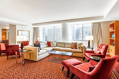 Sitting area | Conrad Presidential Suite - 1 King | Conrad Chicago