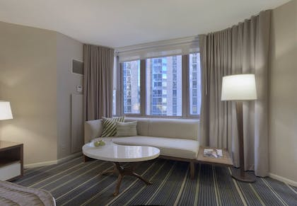 Living Room | One Bedroom Suite | King + Deluxe King | Fairmont Chicago Millennium Park