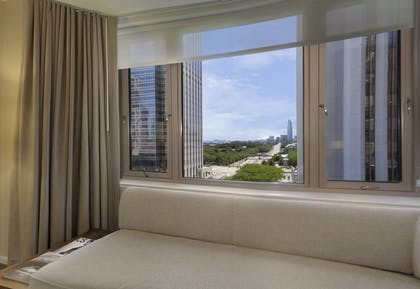 View of the City | One Bedroom Suite | King + Deluxe King | Fairmont Chicago Millennium Park