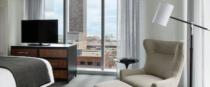 Bedroom 3 | Lake View Suite + Superior | 2 Doubles | Loews Chicago Hotel