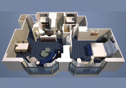 Floorplan | One Bedroom Executive Suite | Renaissance Chicago Downtown Hotel