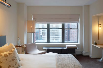 King Guestroom Bed | Apartment King Suite + King Guestroom | The James Chicago