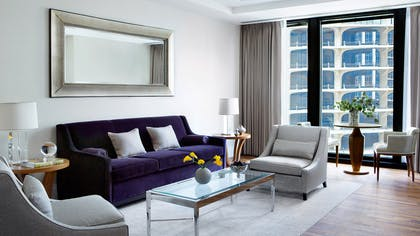 Living Area | One Bedroom Club Suite + Deluxe Premier King | The Langham Chicago