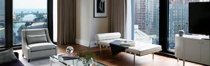 City View | One Bedroom Riverview Suite | The Langham Chicago