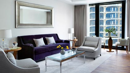 Sitting Area | One Bedroom Suite + Deluxe Premier King | The Langham Chicago