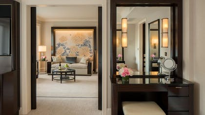 Vanity | Deluxe Suite | King + Grand Premier Double Room | The Peninsula Chicago