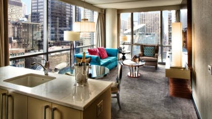 Living Area | Paramount Spa One Bedroom Suite | theWit Chicago
