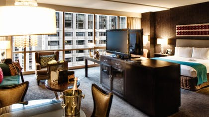 Living Area and Bedroom | Luxury Spa King Junior Suite | theWit Chicago