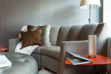 Living Room | Grand Chamber Suite | Virgin Hotels Chicago