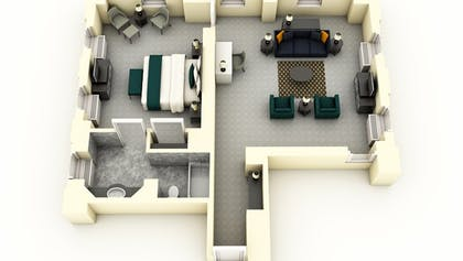 Floor Plan | Specialty Suite | Warwick Allerton Hotel Chicago