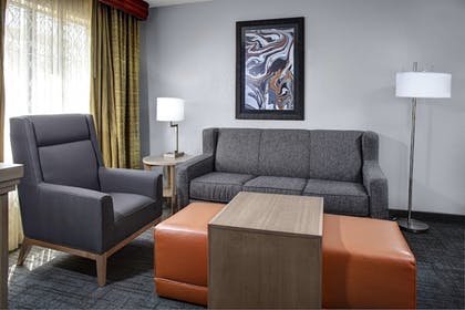Sofa | 2 Double Beds 1 Bedroom Suite  | Homewood Suites by Hilton Richmond-West End/Innsbrook