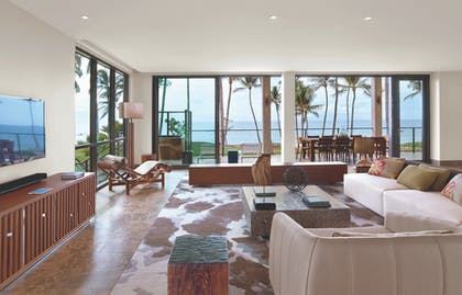Living Room 1 | Four Bedroom Oceanfront Villa | Andaz Maui at Wailea Resort
