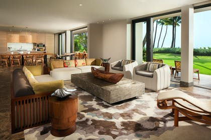 Living Room 2 | Four Bedroom Oceanfront Villa | Andaz Maui at Wailea Resort