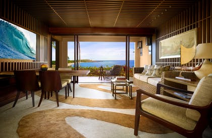 Living | Four Seasons Ocean-View Suite | Four Seasons Resort Lanai