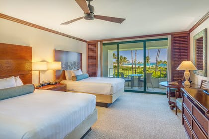 Deluxe Ocean View 2 Queen Bedroom | Ocean Suite + Deluxe Ocean View Queen Queen | Grand Hyatt Kauai Resort & Spa