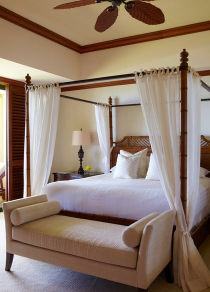 Bedroom | Presidential Suite + Deluxe Ocean View King  | Grand Hyatt Kauai Resort & Spa