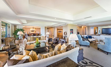 Living Room 2 | Presidential Suite + Deluxe Ocean View King  | Grand Hyatt Kauai Resort & Spa