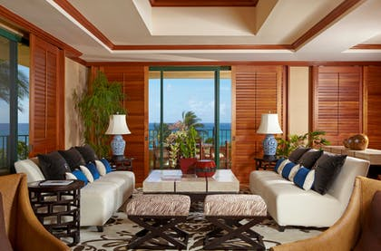 Living Room 3 | Presidential Suite + Deluxe Ocean View King  | Grand Hyatt Kauai Resort & Spa