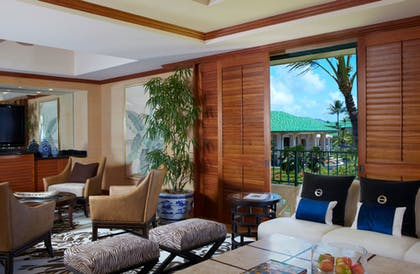 Living Room 4 | Presidential Suite + Deluxe Ocean View King  | Grand Hyatt Kauai Resort & Spa