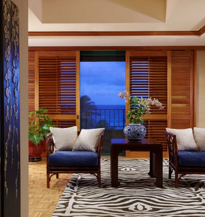Evening View | Presidential Suite + Partial Ocean View Queen Queen | Grand Hyatt Kauai Resort & Spa