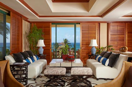 Living Room 3 | Presidential Suite + Partial Ocean View Queen Queen | Grand Hyatt Kauai Resort & Spa