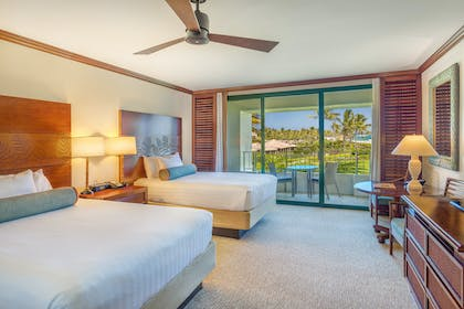 Partial Ocean View 2 Queen Bedroom | Presidential Suite + Partial Ocean View Queen Queen | Grand Hyatt Kauai Resort & Spa