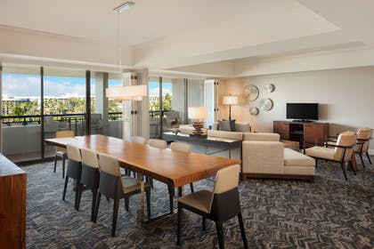 Living Area | Makai Oceanview - 1 Bedroom Presidential Suite - 1 King Bed | Hilton Waikoloa Village
