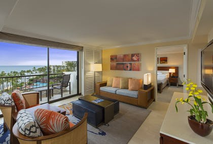 Living Area | Ocean View Suite | Hyatt Regency Maui Resort and Spa