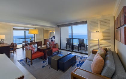 Living Area & Dining Area | Oceanfront Suite | Hyatt Regency Maui Resort and Spa