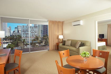 2 Bedroom Suite .jpg | 2-Bedroom Suite with Kitchen and Balcony | Pearl Hotel Waikiki