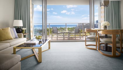 Balcony | One Bedroom Deluxe Ocean View Suite | The Ritz-Carlton Residences, Waikiki Beach