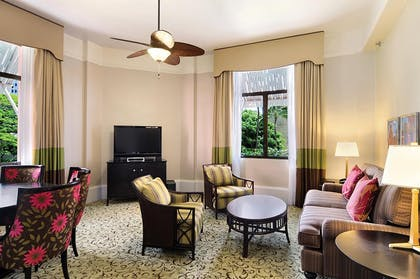 Historic Garden Suite Living Room | Garden Suite | The Royal Hawaiian, a Luxury Collection Resort