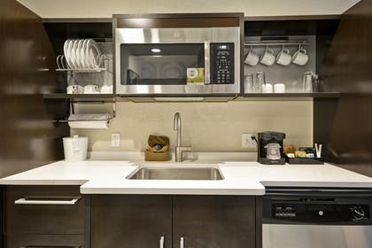 Kitchen | 1 King Bed Studio Suite Non-smoking | Home2 Suites by Hilton KCI Airport