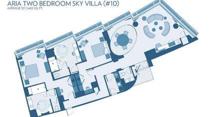 Floor Plan | Sky Villa | ARIA Resort & Casino Las Vegas