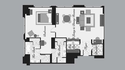 floorplan | Penthouse Suite | Bellagio